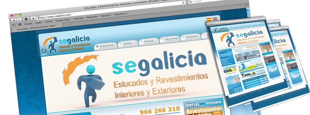 web para empresa de construcción , marketing online alicante